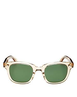 Garrett Leight Unisex Square Sunglasses, 49mm