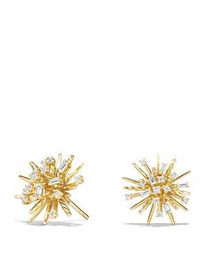 David Yurman Supernova Stud Earrings With Diamonds In 18k Gold