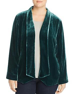 Eileen Fisher Plus Angled Velvet Jacket