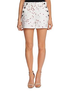Cece Cascading Florets Print Shorts