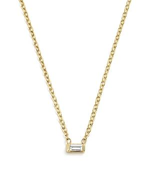 Zoe Chicco 14k Yellow Gold Diamond Baguette Choker Necklace, 14