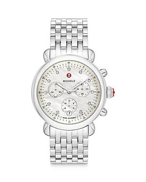 Michele Csx 39 Diamond Chronograph, 39mm (41% Off) - Comparable Value $1,395