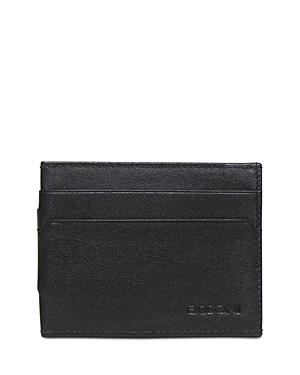 Boconi Grant Leather Money Clip Card Case
