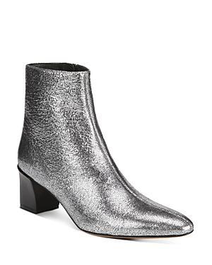 Vince Women's Lanica Metallic Leather Block Heel Booties