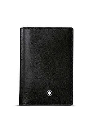 Montblanc Meisterstuck Leather Business Card Holder With Gusset