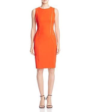 Calvin Klein Zip Detail Sheath Dress