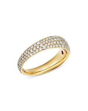 Roberto Coin 18k Yellow Gold Scalare Pave Diamond Ring