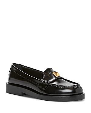Valentino Garavani Women's Roman Stud Moc Toe Loafers