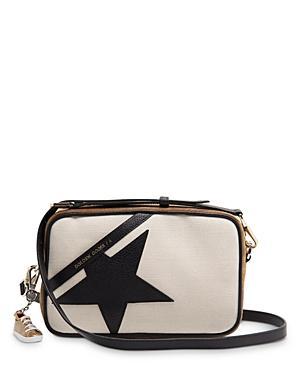 Golden Goose Deluxe Brand Suede & Linen Star Bag