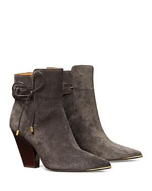 Tory Burch Women's Lila 90 Scrunch High Heel Booties