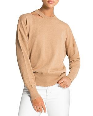 N:philanthropy Alloy Frayed Cutout Sweater