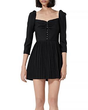 The Kooples Bustier Pleated Mini Dress