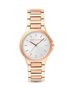 Rebecca Minkoff Cali Rose Gold-tone Bracelet Watch, 34mm