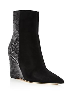 Giuseppe Zanotti Women's Mixed Media Wedge Heel Booties