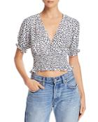 Faithfull The Brand First Light Floral Cropped Top