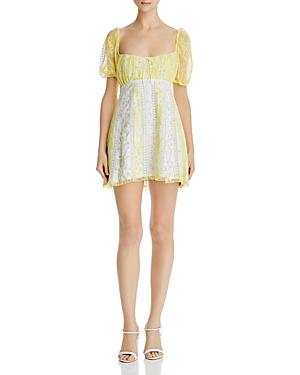 For Love & Lemons Limoncella Floral-and-lace Dress