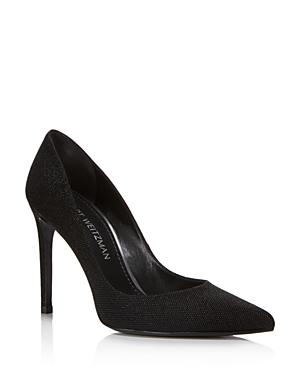 Stuart Weitzman Women's Curvia Textured High Heel Pumps