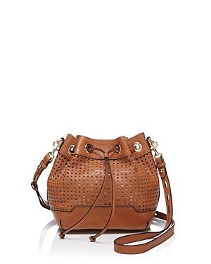 Rebecca Minkoff Shoulder Bag - Mini Fiona Bucket Perforated