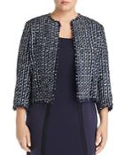 Marina Rinaldi Casanova Cropped Tweed Jacket