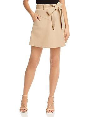 Rebecca Minkoff Stacy Belted Linen & Cotton Mini Skirt