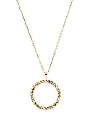 Bloomingdale's Milgrain Circle Pendant Necklace In 14k Yellow Gold - 100% Exclusive