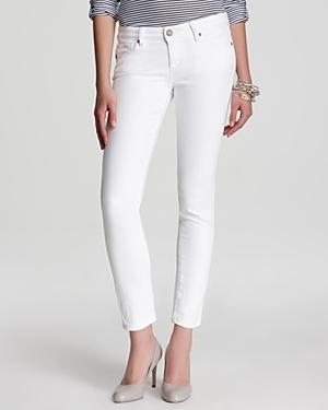 Paige Skyline Ankle Peg Jeans In Optic White