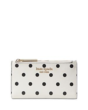 Kate Spade New York Spencer Cabana Dot Slim Bifold Wallet