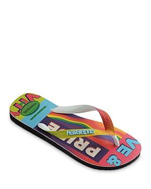 Havaianas Women's Top Pride Rainbow Rubber Flip Flops