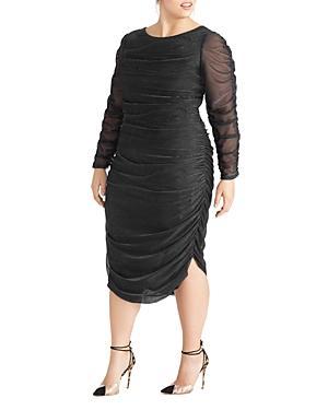 Rachel Roy Plus Estelle Metallic Ruched Dress