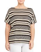 Lauren Ralph Lauren Plus Striped Linen Top