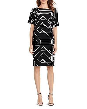Lauren Ralph Lauren Geo Print Shift Dress