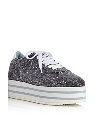 Chiara Ferragni Women's Glitter Platform Lace Up Sneakers