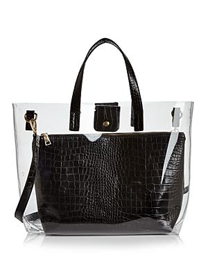 Aqua Clear Tote Bag With Pouch - 100% Exclusive