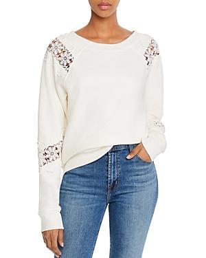 Paige Daytona Lace-inset Sweatshirt