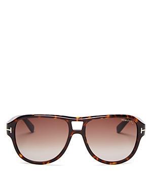 Tom Ford Dylan Aviator Sunglasses, 57mm