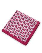 Ted Baker Wave Geo Print Pocket Square