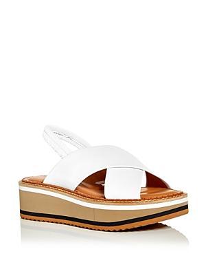 Clergerie Women's Freedom Slingback Wedge Platform Sandals