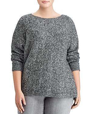 Lauren Ralph Lauren Plus Marled Dolman Sleeve Sweater