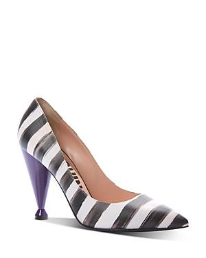 Moschino Women's Pointed-toe Striped High-heel Pumps