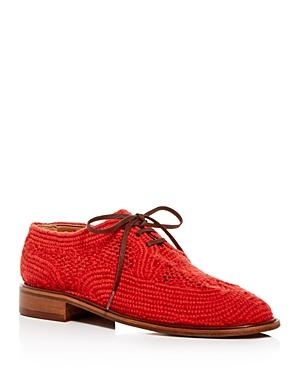 Clergerie Women's Joy Woven Oxfords
