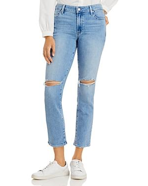 Paige Amber Straight Jeans In Fiesta Destructed