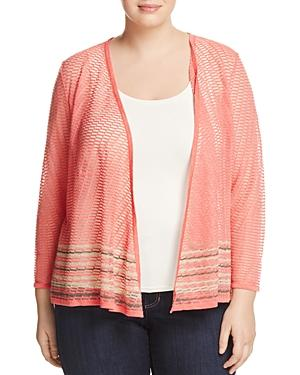 Nic+zoe Plus Rose Quartz Open-front Cardigan