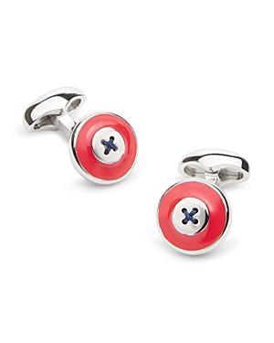 Babette Wasserman Enamel Button Cufflinks