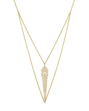 Diamond Pendant Necklace In 14k Yellow Gold, .50 Ct. T.w.