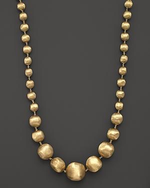 Marco Bicego 18k Yellow Gold Africa Graduated Bead Necklace, 18