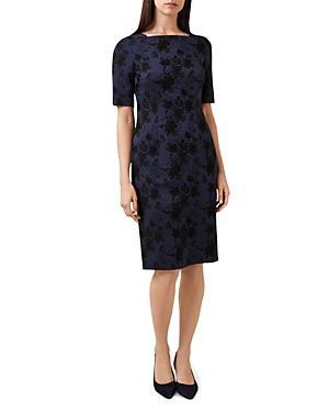 Hobbs London Rondel Floral Jacquard Sheath Dress