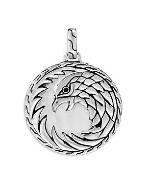 John Hardy Sterling Silver Legends Eagle Pendant With Treated Black Sapphire
