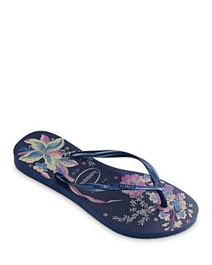 Havaianas Women's Slim Organic Floral Print Rubber Flip Flops
