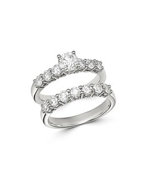 Bloomingdale's Diamond Engagement Ring Set In 14k White Gold, 2.0 Ct. T.w. - 100% Exclusive
