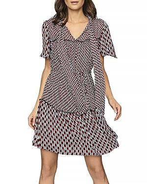 Reiss Manuella Printed Dress